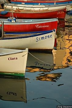 "Color Theory Therapy| Serafini Amelia| "" Italy In Color"" Boats in Lazise"