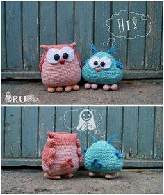 Amigurumi Crochet Owls