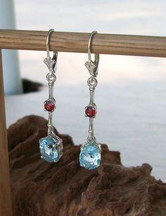 Blue Topaz Dangle Earrings