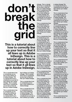 A tutorial for good typography in InDesign - Setting up a baseline grid | Typophile