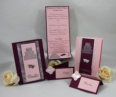 Hochzeitspapeterie - Eine Romanze beginnt - Handgefertigt mit viel Liebe zum Detail.  Verwendete Materialien alle von Stampin´Up!