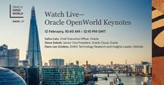Oracle Cloud, Wednesday Wisdom, Cloud Computing, Conference, Conversation, New York Skyline, Innovation, Join, Europe
