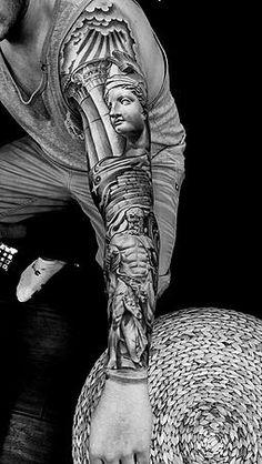 lil b tattoo portofolio Lil B Tattoo, Different Styles Of Tattoos, Black And Grey Tattoos, Sleeve Tattoos, Tattoo Artists, Tatting, Ink, Statue, Ideas