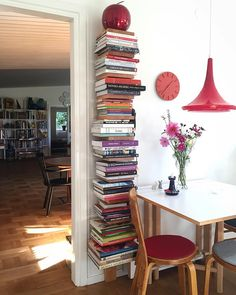 Recycled literature turned into art. Perfect atmosphere for any book lover via svante elledecoration- interior, design, books