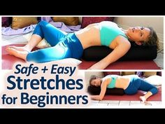 Safe Beginner Stretches For Back Pain Neck, Shoulders Relief or Sciatica Yoga Class - YouTube