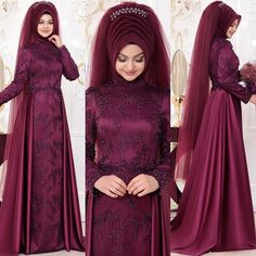 Most Beautiful Hijab Engagement Models, www. The Most Beautiful Hijab Engagement Models, www. Muslim Wedding Gown, Muslimah Wedding Dress, Muslim Wedding Dresses, Formal Dresses For Weddings, Designer Wedding Dresses, Dress Brokat Muslim, Muslim Dress, Hijab Gown, Hijab Evening Dress