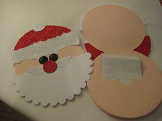 Stampin Up Card Handmade Christmas Santa Gift Card Holder | eBay