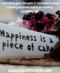 Our thoughts & emotions control our actions. We have to overcome negative thoughts & emotions and uplift ourselves to taking only positive actions. Food Truck Festival, Decadent Cakes, Angel Food Cake, Mindful Eating, Piece Of Cakes, Love Cake, Negative Thoughts, Fun Desserts, Dessert Ideas