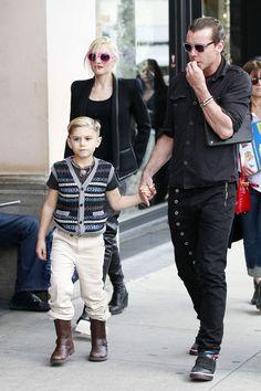 Gwen Stefani, Gavin Rossdale and their son Kingston.