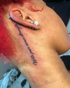 Girl Neck Tattoos, Neck Tattoos Women, Red Ink Tattoos, Girly Tattoos, Badass Tattoos, Small Tattoos, Sleeve Tattoos, Tatoos, Fish Tattoos