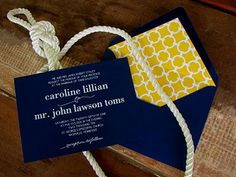 nautical navy + yellow, ALMOST makes me want to have another wedding!