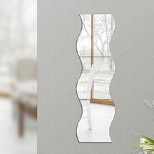 Onda criativa Projetado Adesivos Espelho Adesivos de Parede Sala Quarto Art Home Decor alishoppbrasil