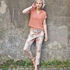 Jeans Stoff Blumen Baumwolle elastisch Denim für Hose Jacke Rock Bekleidung