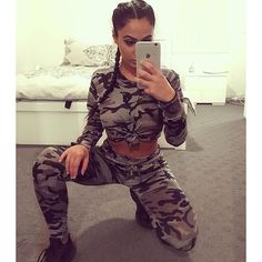 styles our BLOSSOM loungewear set free delivery Cute Tomboy Outfits, Really Cute Outfits, Camo Outfits, Hot Outfits, Swag Outfits, Dance Outfits, Fashion Outfits, Selfie Foto, Army Costume