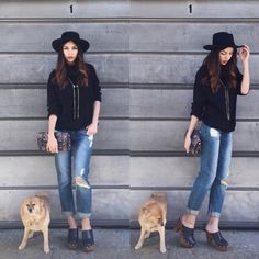 Boho Chic Style // Denim // Clogs Oh-So Lovely Life