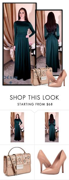 """""""DesirVale  7"""" by ramiza-rotic ❤ liked on Polyvore featuring Miss Selfridge, Charles by Charles David and plus size dresses"""