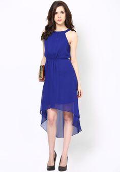Harpa Blue Asymetric Dress