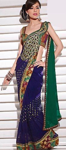 Peacock saree #peacock #saree #blue #beauty