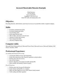 Account Receivable Resume Acting Resume Sample Presents Your Skills And Strengths In Details