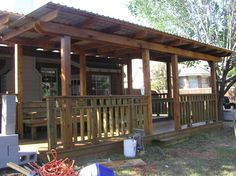 Two tiered covered deck - Harper Construction TX