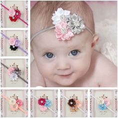 bab1464e241 Newest Girl Baby Headband Toddler Lace Bow Flower Hair Band Accessories  Headwear