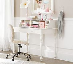 Whitney Writing Desk & Hutch #pbkids