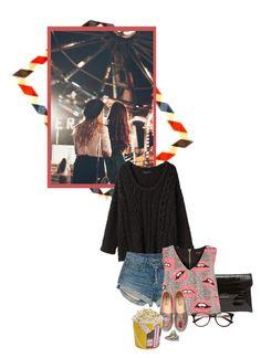 """Lights in the dark farris wheels in the sky"" by redheadlass on Polyvore featuring mode, Givenchy, rag & bone, River Island, Chiara Ferragni en Sidney Garber"