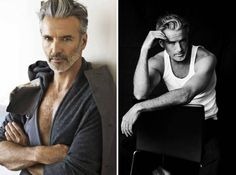Some men are like wine - they just get better with age. We collected a list of handsome guys over or just under 50 years old that might just redefine the concept of older men. Nick Wooster, Older Male Models, Men Models, 50 Year Old Men, Handsome Older Men, Older Man, Men Over 50, Russian Men, Hommes Sexy