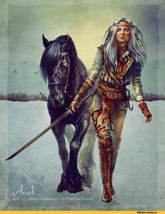 Игровой арт,game art,Игры,Цири,The Witcher,Ведьмак, Witcher, ,арт барышня,арт девушка, art барышня, art девушка,,красивые картинки,JustAnoR