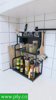 spice rack organization space saving Spice Rack Organization, Spice Rack Organiser, Kitchen Organization, Kitchen Shelves, Kitchen Storage, Kitchen Cabinets, Kitchen Hacks, Magnetic Spice Jars, Cool Paper Crafts