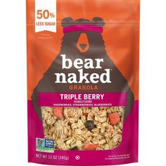 One berry at a time? Sure. Maybe two. But it wasn't until the bears that we discovered the joy of eating three berries at the same time. Enter Bear Naked Triple Berry Granola, featuring real raspberries, strawberries and blueberries in a Non-GMO project verified granola that is sure to change your whole perspective. We're just going to come out with it. Bears make the decisions around here. They pick out the ingredients, create new flavors and taste-test every batch of granola we make… Whole Grain Rice, Freeze Dried Raspberries, New Flavour, Natural Flavors, Granola, Blueberry, Breakfast Recipes, Naked, Pouches