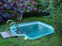 Small Swimming Pools, Small Pools, Swimming Pool Designs, Lap Pools, Indoor Pools, Small Backyard Design, Small Backyard Landscaping, Backyard Designs, Backyard Ideas