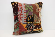 Patchwork Kilim Pillow Cover 20 x 20 Oriental Patchwork Pillow Geometric Pillow Nostalgic Pillow Anatolian Kilim Pillow by kilimwarehouse on Etsy Kilim Pillows, Throw Pillows, Handmade Pillow Covers, Patchwork Pillow, Geometric Pillow, Oriental, Etsy, Cushions, Handmade Pillow Cases