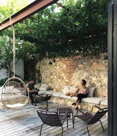 Pergola With Roof, Pergola Patio, Diy Patio, Small Pergola, Modern Pergola, Modern Patio, Covered Pergola, Pergola Kits, Simple Landscape Design