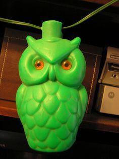 Lime green owl