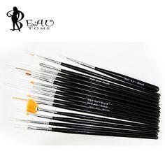 15PCS/Set Nail Art Brush Set Acrylic UV Gel Painting Drawing Liner Pens Kit DIY Nail Decoration Manicure Tools Free Shipping