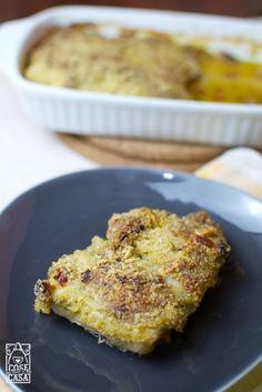 Lonza di maiale ripiena in crosta di Parmigiano