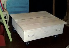 Dresser draw turned coffee table.