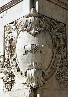 ⌖ Architectural Adornments ⌖  ornate building details - corner building relief, photo by mac.wrangler, via Flickr