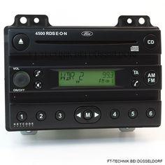 Ford Fiesta CD Radio 4500 RDS EON Passend für:  Fiesta und Fusion Modelle von 2001 bis 2005