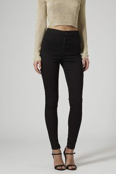 Photo 3 of PETITE MOTO Black Joni Jeans