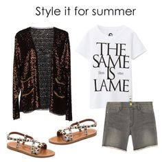 Team your sequin topper with distressed denim shorts, a graphic tee, and printed flat sandals. Did we mention that this is a surprisingly perfect outfit for concerts and festivals?
