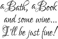 A Bath A Book and Some Wine Bathroom Wall Decal.  This beautiful bathroom decal is made using 3 beautiful fonts. It is available in many sizes and colors.  Please scroll through the photos to see a close-up of the decal and our color chart.  Did you know that you can cut apart vinyl decals so you can arrange them as you want? You can! So be creative and have fun!  The decal is shown here in a black color. You may choose any color you would like from our colors. Our color chart is shown in…