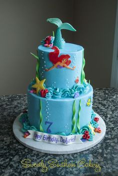 Little Mermaid Cake; Ocean Cake; Under the Sea Cake