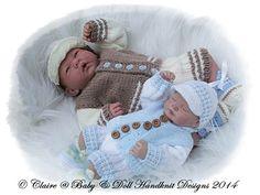 "Jacket & Shorts Set for 10-16"" doll/preemie baby-knitting pattern, doll"