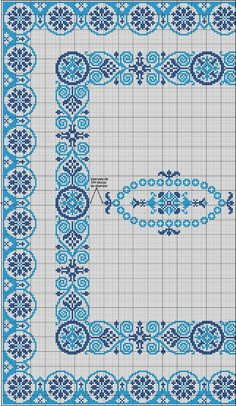 Cross Stitch Borders, Cross Stitching, Cross Stitch Patterns, Flower Phone Wallpaper, Needlepoint Stitches, Blue Cross, Stitch Kit, Plastic Canvas, Diy And Crafts