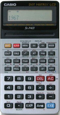 CASIO fx-P401 Game & Watch, School Daze, Small Paintings, Retro, Calculator, Casio, Phone Case, Buttons, Pocket
