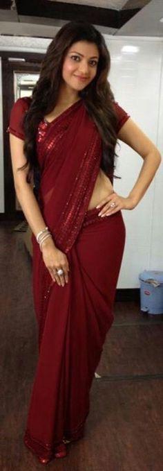 kajal luks cool in red saree Men's Fashion, Fashion Week, Indian Fashion, Tokyo Fashion, Indian Beauty Saree, Indian Sarees, Kajal Agarwal Saree, Saree Dress, Red Saree