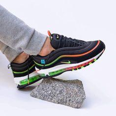 Air Max 97, Nike Air Max, Latest Sneakers, Men's Sneakers, Foot Locker, Running Shoes, Kicks, Black, Style