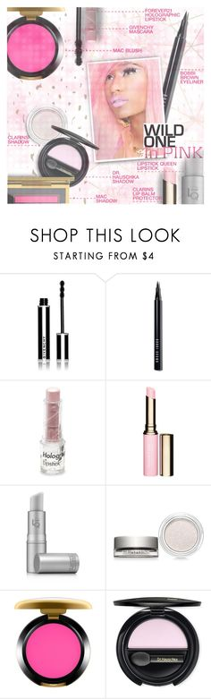 """Wild in Pink Beauty"" by stacey-lynne ❤ liked on Polyvore featuring beauty, Givenchy, Bobbi Brown Cosmetics, Nicki Minaj, Forever 21, Clarins, Lipstick Queen, MAC Cosmetics and Dr.Hauschka"